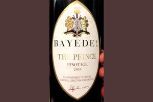 Отзыв о вине Bayede! The Prince Pinotage 2018