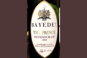 Отзыв о вине Bayede! The Prince Sauvignon Blanc 2018