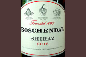 Отзыв о вине Boschendal Shiraz 2016