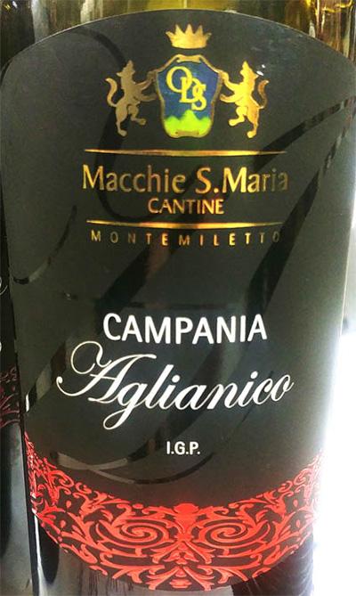 Отзыв о вине Cantina Macchie S.Maria Cantine Campania Aglianico 2017