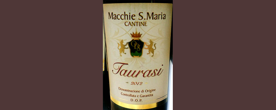 Отзыв о вине Cantina Macchie S.Maria Cantine Taurasi 2012