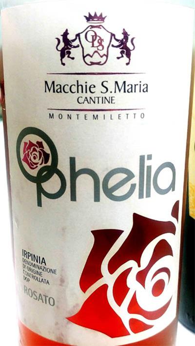 Отзыв о вине Cantina Macchie S.Maria Ophelia Irpinia rosato 2017