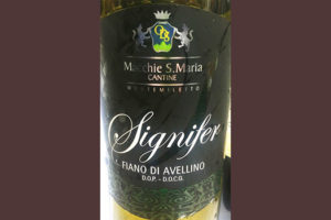 Отзыв о вине Cantina Macchie S.Maria Signifer Fiano di Avellino 2017
