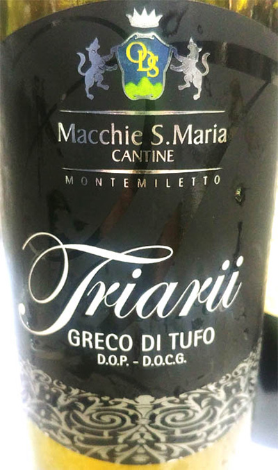 Отзыв о вине Cantina Macchie S.Maria Triarii Greco di Tufo 2017