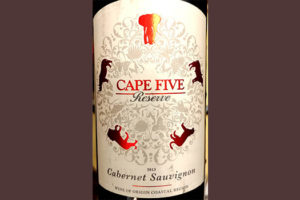 Отзыв о вине Cape Five Reserve Cabernet Sauvignon 2013