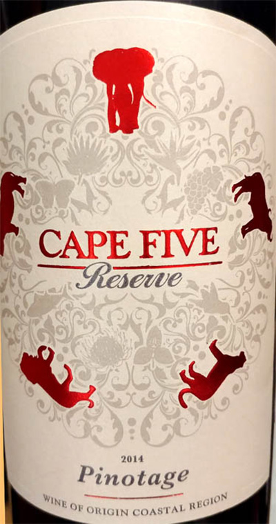 Отзыв о вине Cape Five Reserve Pinotage 2014