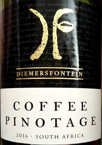 Отзыв о вине Diemersfontein Coffee Pinotage 2016