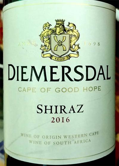 Отзыв о вине Dimersdal Shiraz 2016