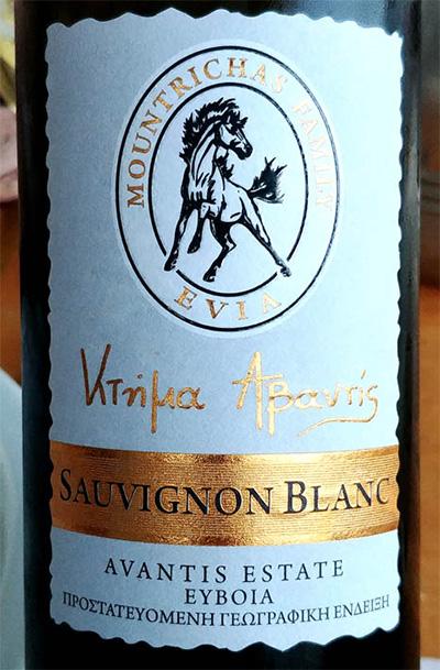 Отзыв о вине Evia Montrichas Family Sauvignon Blanc Avantas Estate 2017