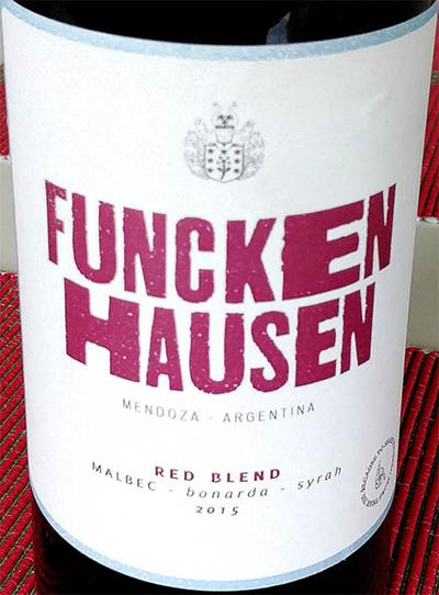 Отзыв о вине Funckenhausen Red Blend Reserva Malbec Bonarda Syrah 2015