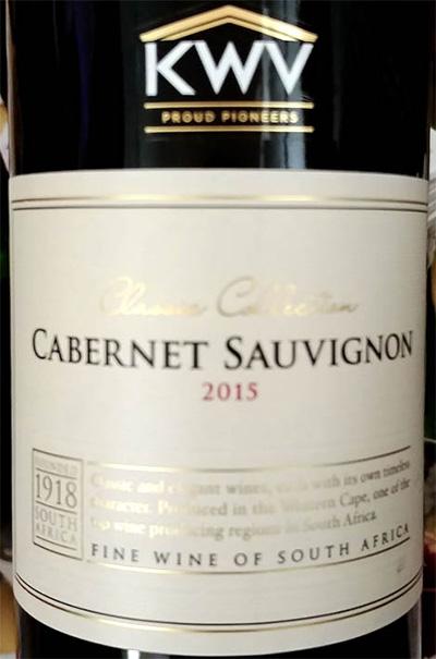 Отзыв о вине KWV Classic Collection Cabernet Sauvignon 2015