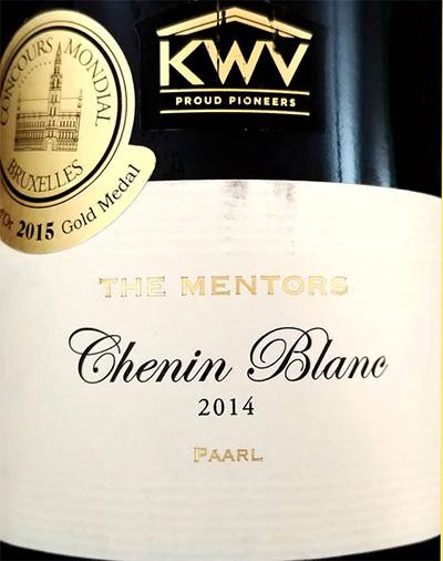Отзыв о вине KWV The Mentors Chenin Blanc 2014
