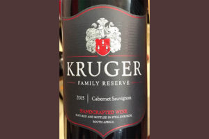 Отзыв о вине Kruger Family Reserve Cabernet Sauvignon 2015
