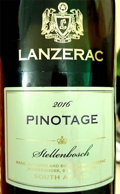 Отзыв о вине Lanzerac Pinotage Stellenbosch 2016