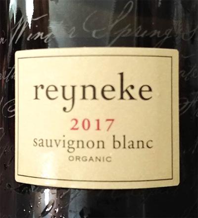 Отзыв о вине Rayneke Organic Sauvignon Blanc 2017