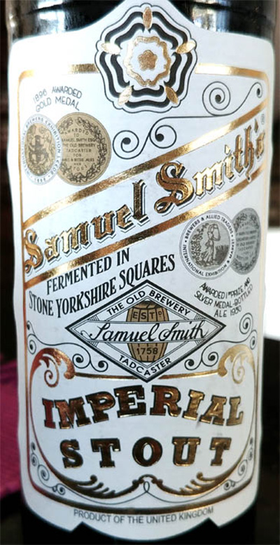 Отзыв о пиве Samuel Smith's Imperial Stout