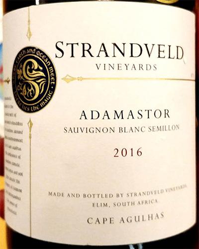 Отзыв о вине Strandveld Vineyards Adamastor Sauvignon Blanc Semillon 2016