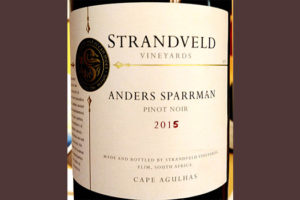 Отзыв о вине Strandveld Vineyards Anders Sparrman Pinot Noir 2015
