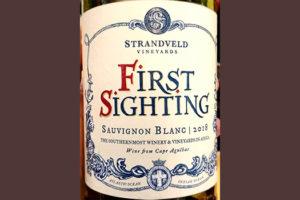 Отзыв о вине Strandveld Vineyards First Sighting Sauvignon Blanc 2018