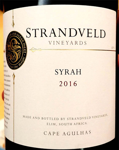 Отзыв о вине Strandveld Vineyards Syrah 2016