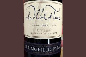 Отзыв о вине The Work of Time Springfield Estate 2012