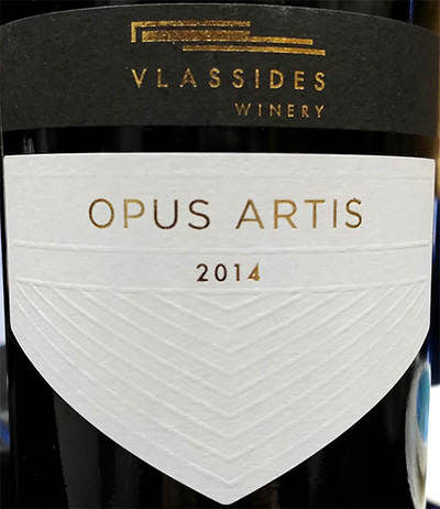 Отзыв о вине Vlassides Winery Opus Artis 2014