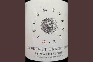Отзыв о вине Waterkloof Circumstance Cabernet Franc 2015
