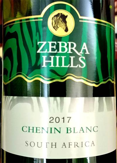 Отзыв о вине Zebra Hills Chenin Blanc 2017