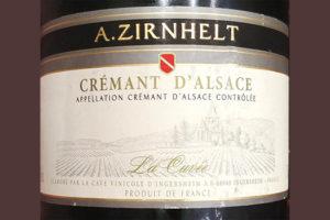 Отзыв об игристом вине A.Zirnhelt Cremant d'Alsace La Cuvee brut