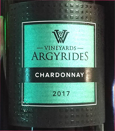 Отзыв о вине Argyrides Vineyards Chardonnay 2017