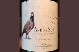Отзыв о вине Aves del Sur Carmenere 2018