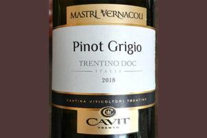 Отзыв о вине Cavit Mastri Vernacoli Pinot Grigio Trentino DOC 2018
