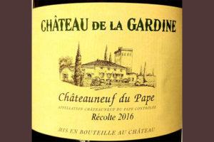 Отзыв о вине Chateau de la Gardine Chateauneuf du Pape blanc 2016