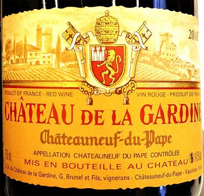 Отзыв о вине Chateau de la Gardine Cuvee Tradition Chateauneuf du Pape rouge 2016