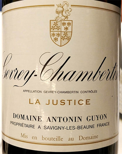 Отзыв о вине Domaine Antonin Guyon Gevrey-Chambertin La Justice 2016
