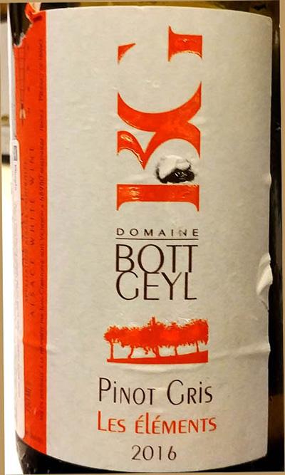 Отзыв о вине Domaine Jules Geyl Pinot Gris Les Element 2016