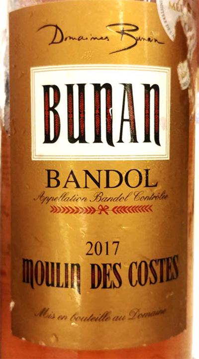 Отзыв о вине Domaines Bunan Bandol Moulin des Costes rose 2017