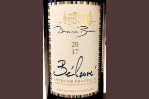 Отзыв о вине Domaines Bunan Belouve rouge 2017
