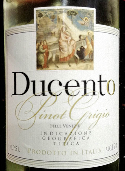 Отзыв о вине Ducento Pinot Grigio 2016