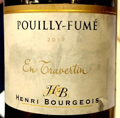 Отзыв о вине Henri Bourgeois Pouilly-Fume En Travertin 2017
