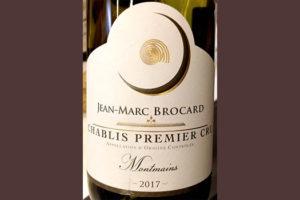 Отзыв о вине Jean Marc Brocard Chablis Premier Cru Montmains 2017
