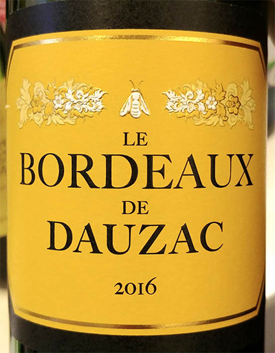 Отзыв о вине Le Bordeaux de Dauzac 2016