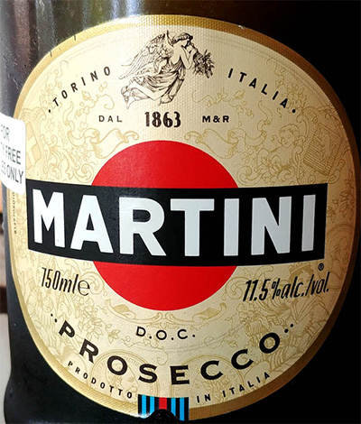 Отзыв об игристом вине Martini Prosecco extra dry