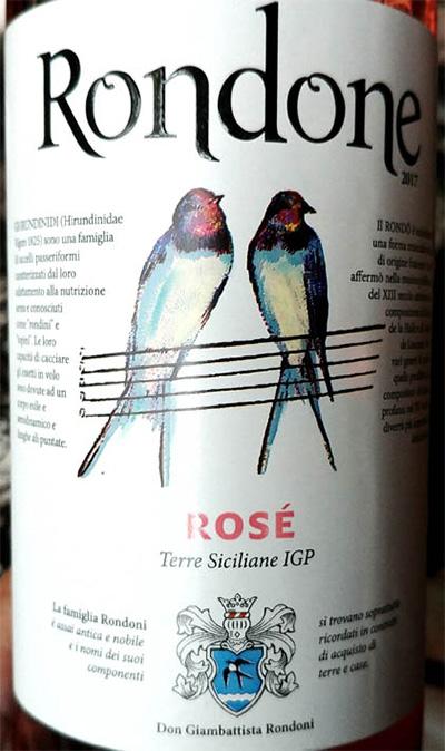 Отзыв о вине Rondone rose Terre Siciliane 2017