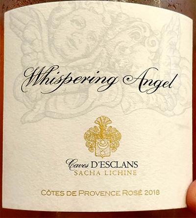Отзыв о вине Sacha Lichine Whispering Angel Cotes de Provence rose 2018