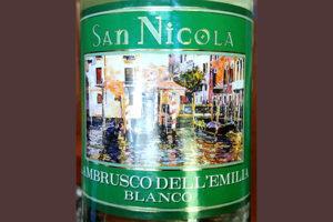 Отзыв о полуигристом вине San Nicola Lambrusco dell'Emilia clanco 2017