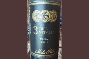 Отзыв о вине Santa Rita 3 Tres Medallas Merlot 2017