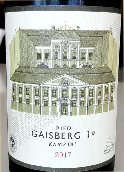 Отзыв о вине Schloss Gobelsburg Ried Gaisberg 1 Kamptal 2017