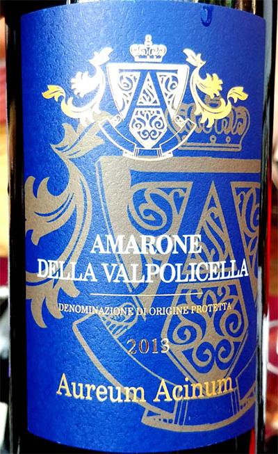 Отзыв о вине Tenuta Valleselle Amarone della Valpolicella Aureum Acinum 2013