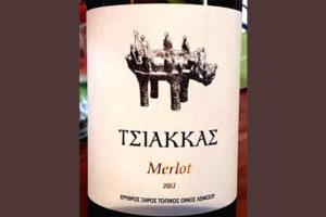 Отзыв о вине Tsiakkas Winery Merlot 2017